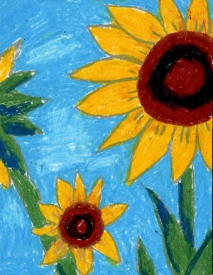sunflower drawing (credit: google images)