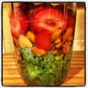 Kale, Strawberry, Almond Smoothie